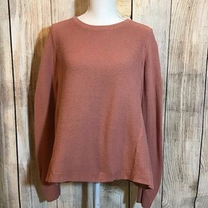 Madewell rose colored cotton blend sweater, small